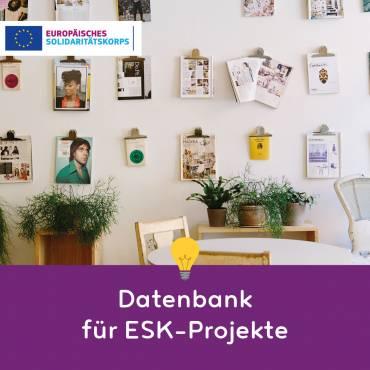 Datenbank für ESK-Projekte ist da!