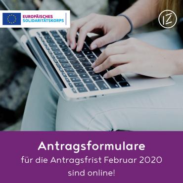Antragsformulare für erste Frist 2020 online!