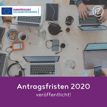 Antragsfristen 2020 veröffentlicht