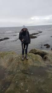 Johanna bei ihrem Freiwilligeneinsatz in England
