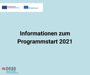 Information zum Programmstart 2021