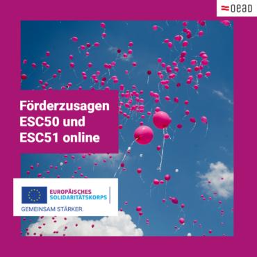 Förderzusagen ESC50 und ESC51 (1. Frist) online
