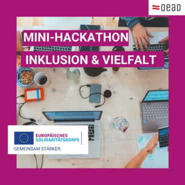 Inklusion und Vielfalt – Anmeldung zu Mini-Hackathons